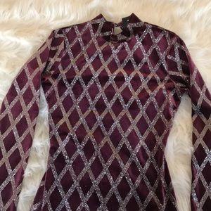 Fashion Nova Dresses - Velvet glitter dress